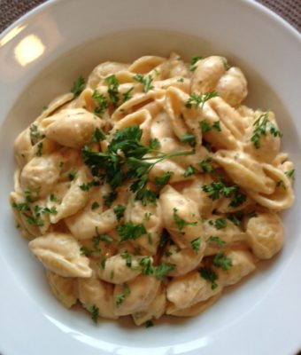 Pasta with Pumpkin Creme Sauce