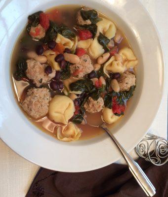 Meatball, Bean & Tortellini Soup