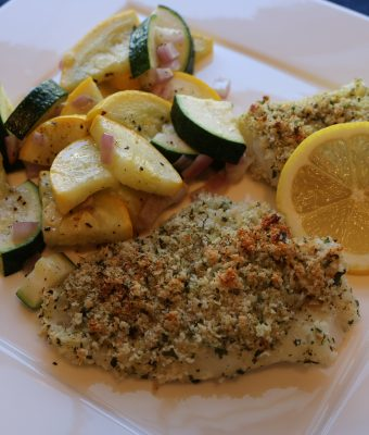 Lemon Parmesan Crusted Cod