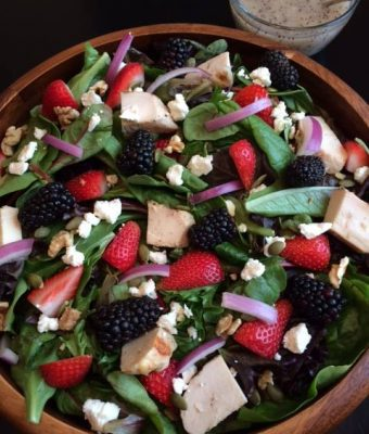 Spring Fruit & Chicken Salad