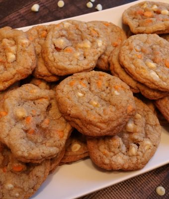 Pumpkin Spice & White Chocolate Chip Cookies