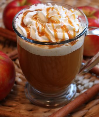 Hot Salted Caramel Apple Cider